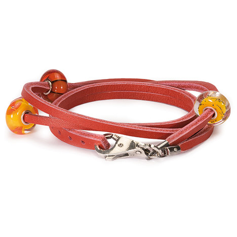 Armbaender für Frauen - Trollbeads Armband 925 Silber rot 41 cm  - Onlineshop Goettgen