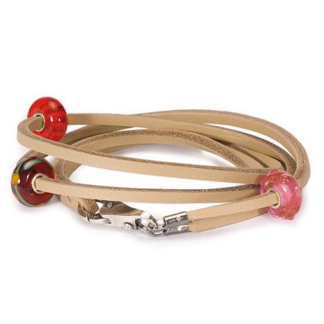 Armbaender für Frauen - Trollbeads Armband 925 Silber beige 36 cm  - Onlineshop Goettgen