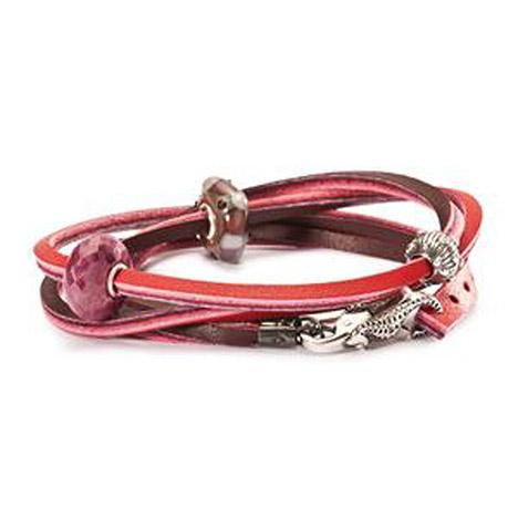 Armbaender für Frauen - Trollbeads Armband 925 Silber rot bordeaux 41 cm  - Onlineshop Goettgen