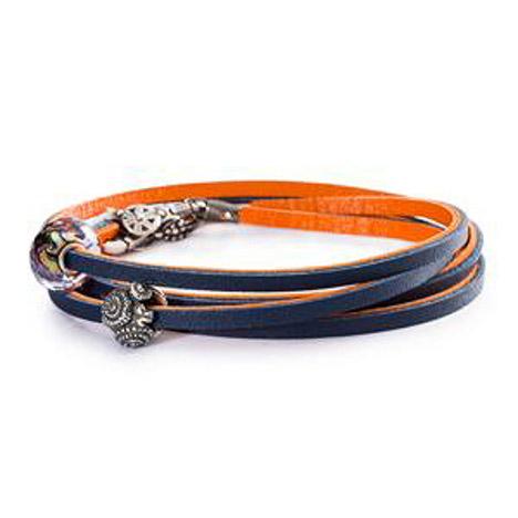 Armbaender für Frauen - Trollbeads Armband 925 Silber orange navy 45 cm  - Onlineshop Goettgen