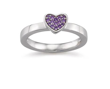 Laura Coon Ring 925 Silber Zirkonia violiett