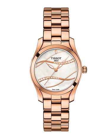Uhren - TISSOT Armbanduhr Damen T WAVE II DIAMOND ROSE PVD  - Onlineshop Goettgen