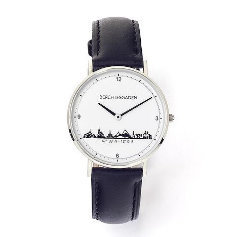 Uhren - Goettgen Armbanduhr Berchtesgaden Damen Lederband schwarz  - Onlineshop Goettgen