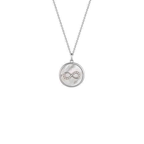 Ketten - XENOX Collier 925 Silber Zirkonia 60 cm  - Onlineshop Goettgen