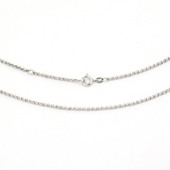 Premium Schmuck-Kette 1,5 mm, 45 cm / 42,5 cm, 925 Silber rhodiniert