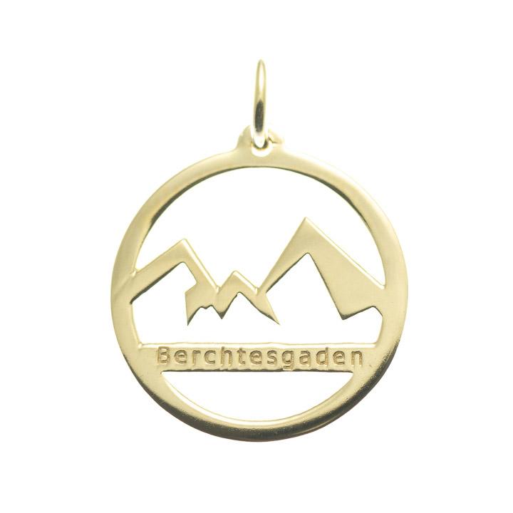 Anhänger Watzmann Berchtesgaden 925 Silber vergoldet
