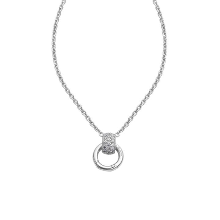 Collier 42 cm 925 Silber mit Clipring für Charms