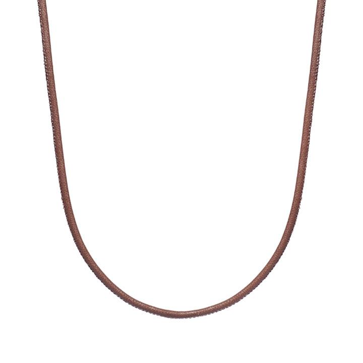Kette Leder braun 90cm 925 Silber