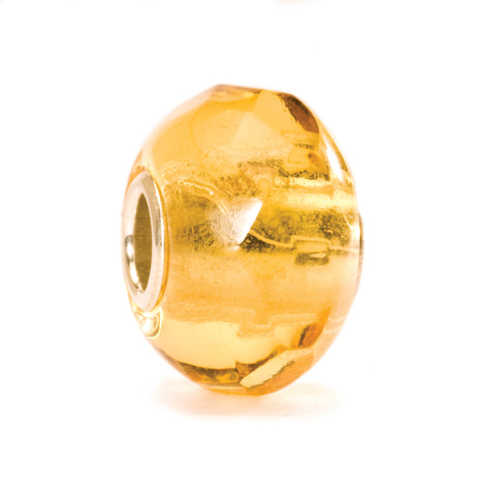 Bead 925 Silber Gelbes Prisma