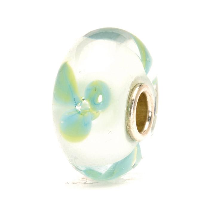 Bead 925 Silber Eisblaue Blume