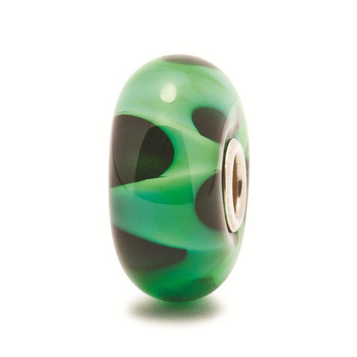 Bead 925 Silber Grüne Welle