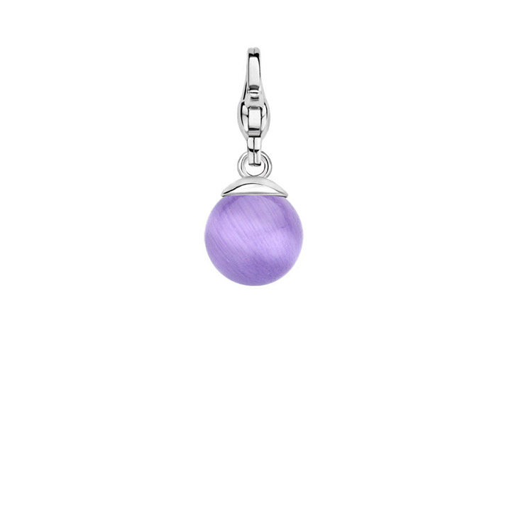 Charm 925 Silber Light Purple Ball S