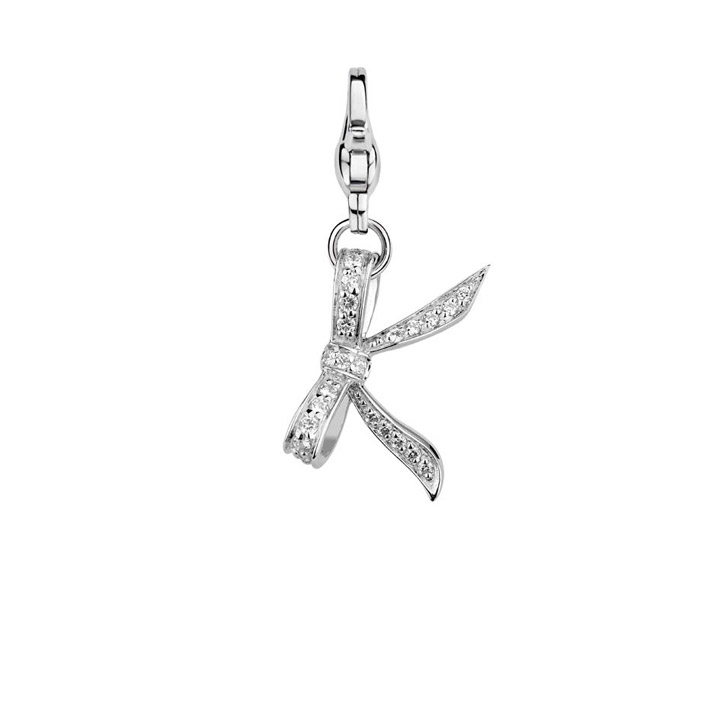 Charm 925 Silber Butterfly Kisses