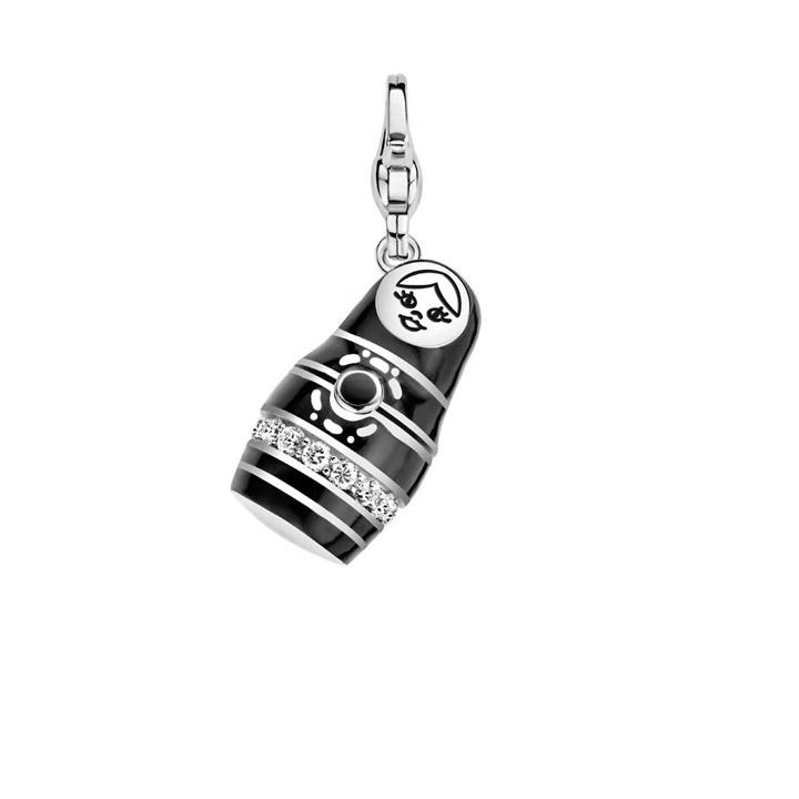 Charm 925 Silber Black Babushka Big