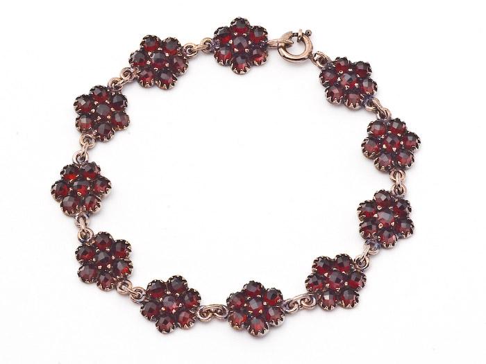 Armband Granat 925