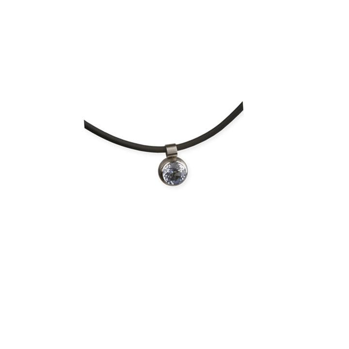 Anhänger, Stein 6 mm, aquamarine