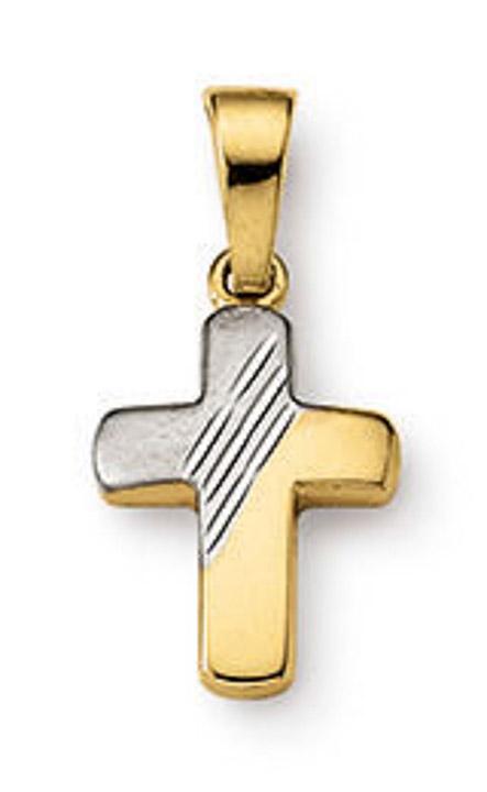 Anhänger Kreuz 585 Gelbgold 12 mm