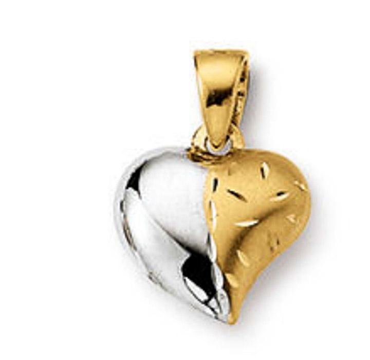 Anhänger Herz 585 Gelbgold