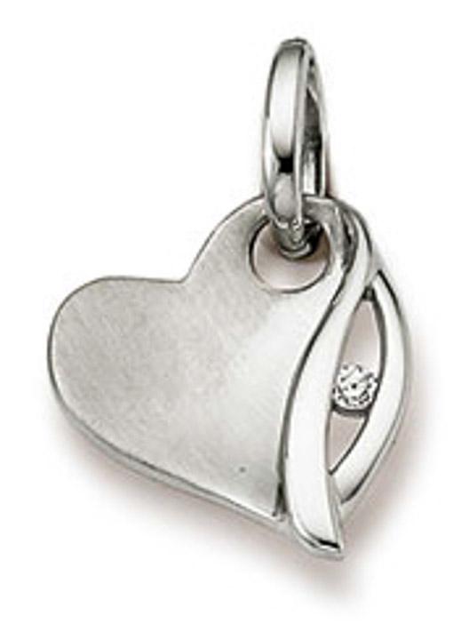 Anhänger Herz 925 Silber Zirkonia weiss