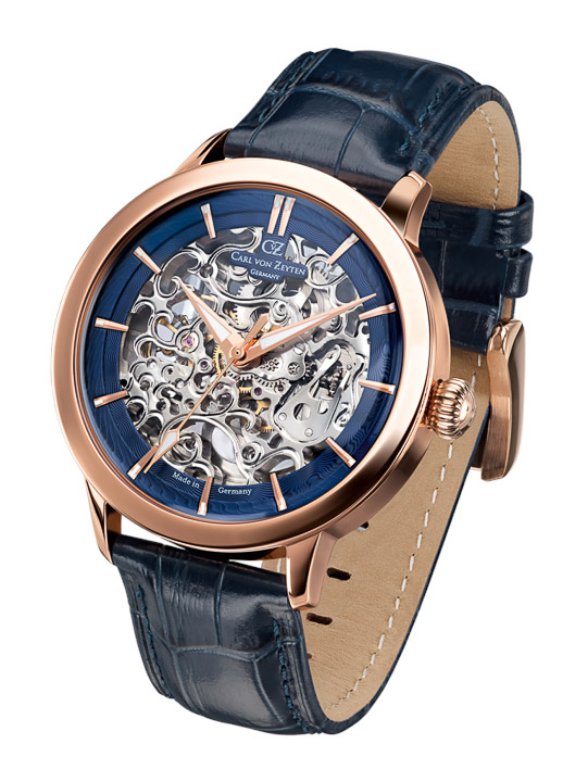 Armbanduhr Triberg Skelett, Sekunde & Minute, Std.