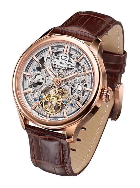 Armbanduhr St. Georgen Skelett, Stunde - Minute - Sekunde