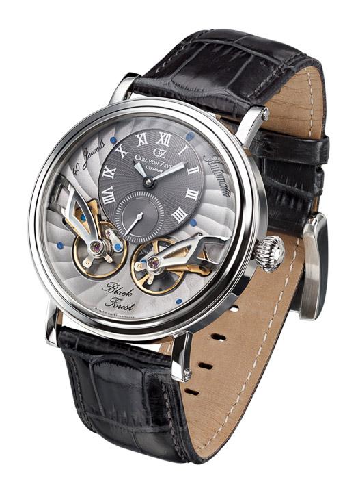 Armbanduhr Black Forest Twin Balance, kleine Sekunde