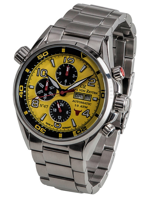 Armbanduhr NO.47 Day Date, Jahr, Monat, 24h