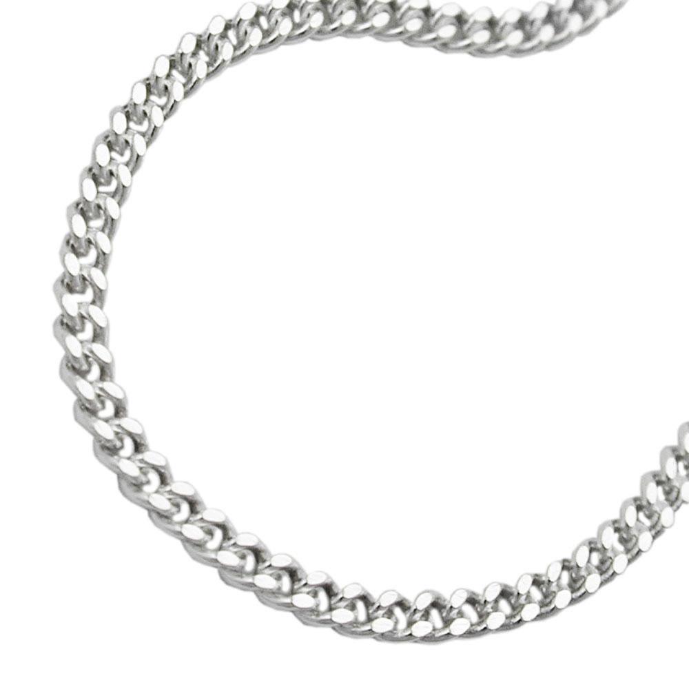 Armband, Panzerkette flach, Silber 925