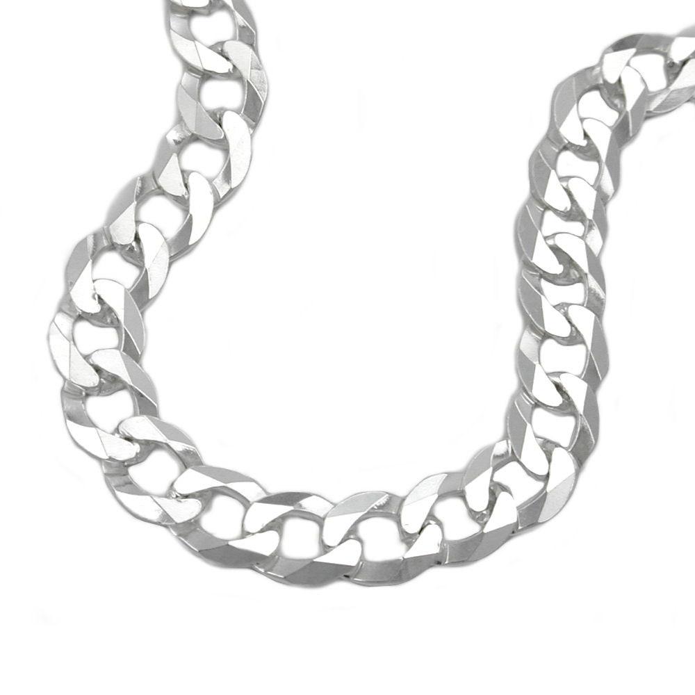 Armband, Panzer flach, Silber 925