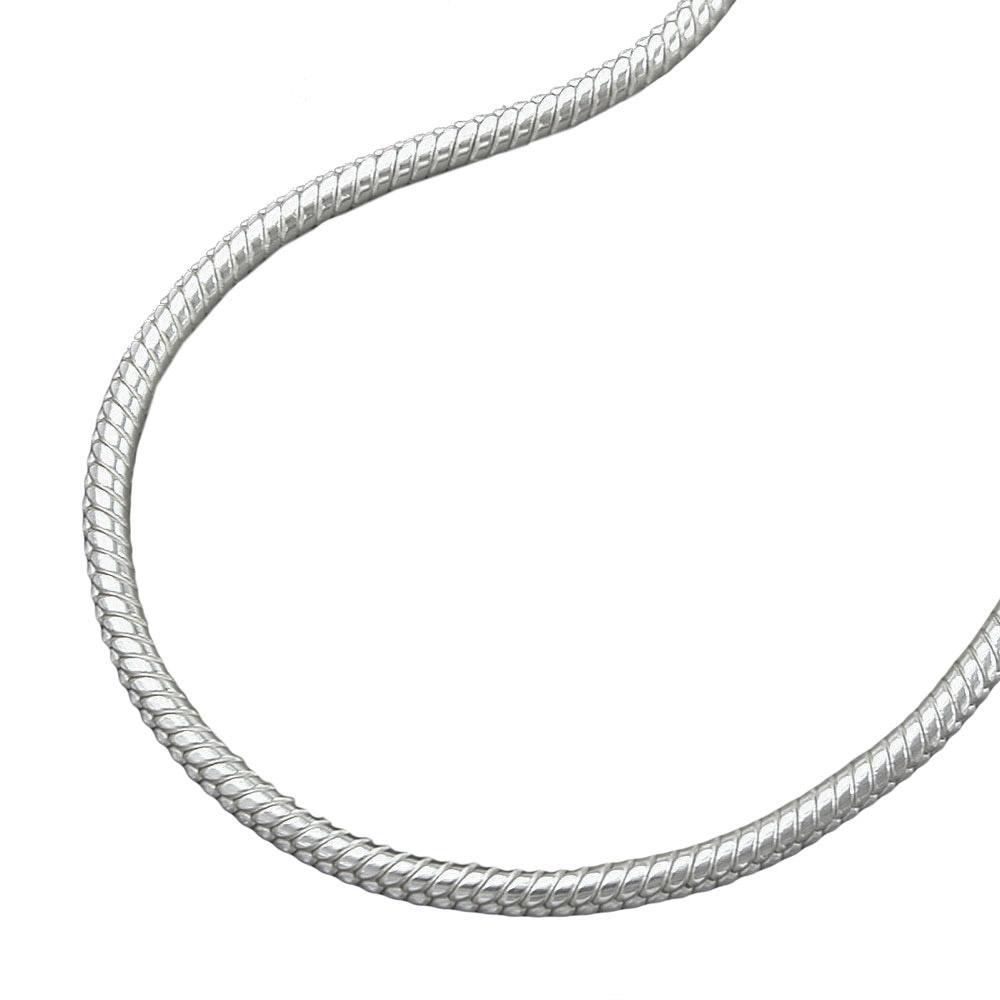 Kette, Schlange 1,5mm rund Silber 925