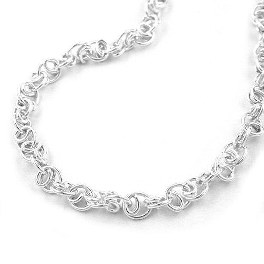 Armband, Scrollmuster, Silber 925