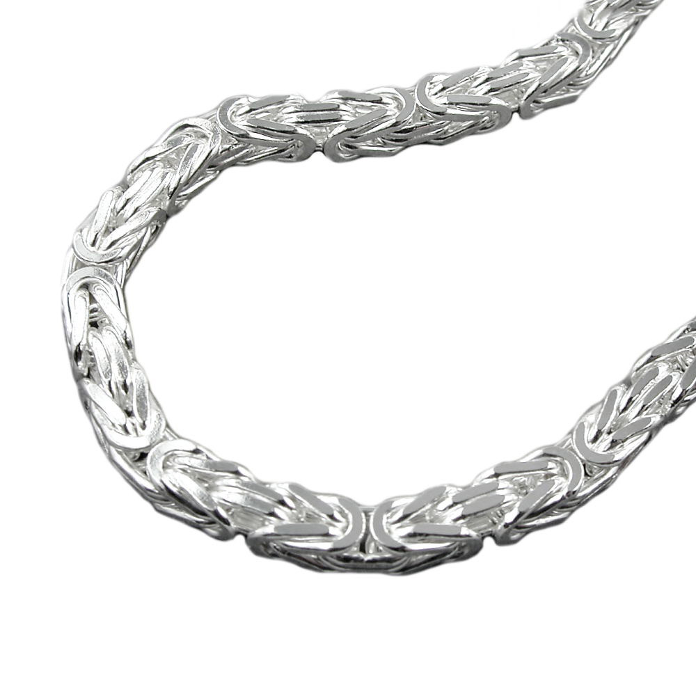 Armband, 6mm Königskette, Silber 925
