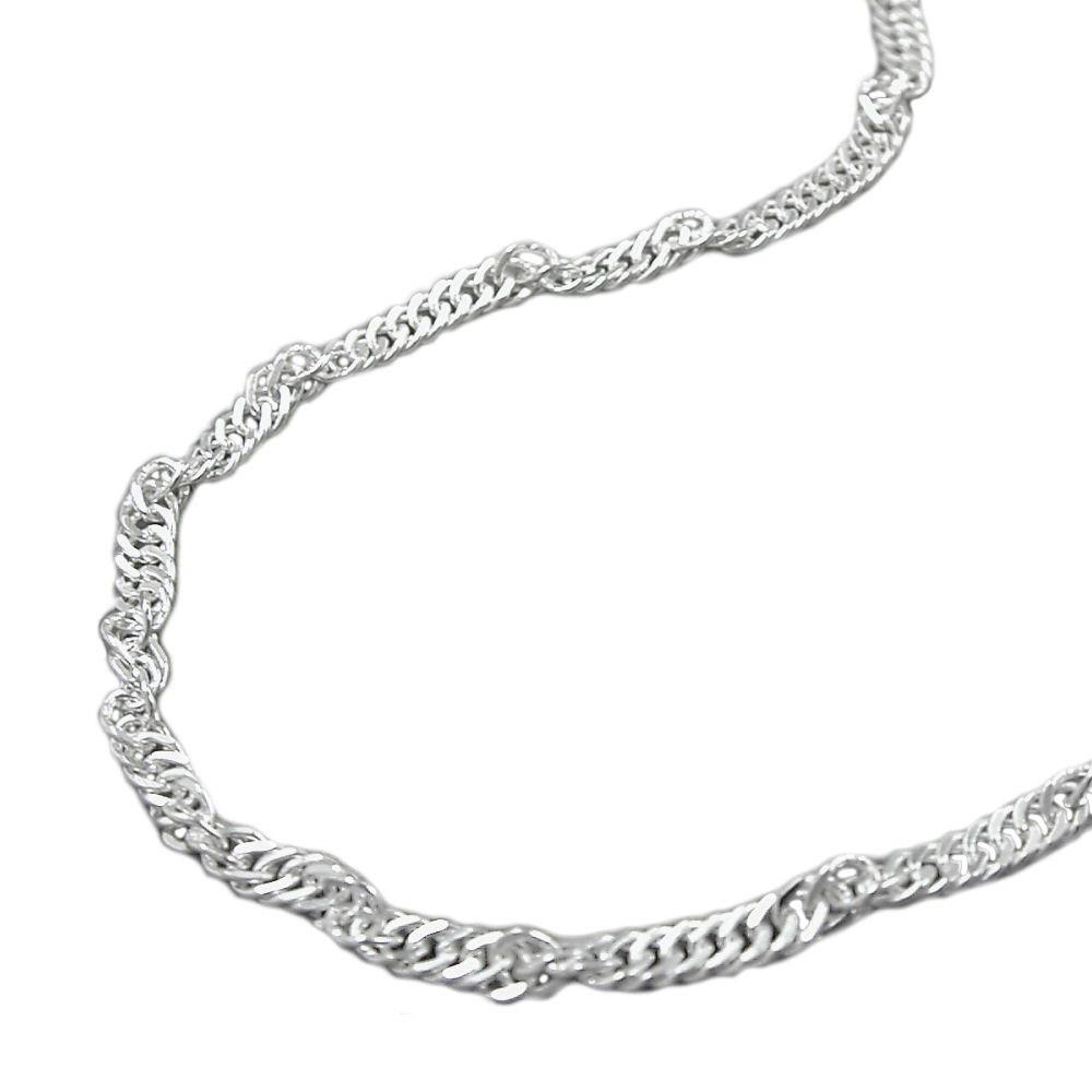 Fußkette Singapur diamantiert Silber 925