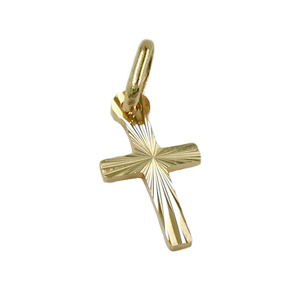 Anhänger 14x7mm Kreuz diamantiert Gold 585