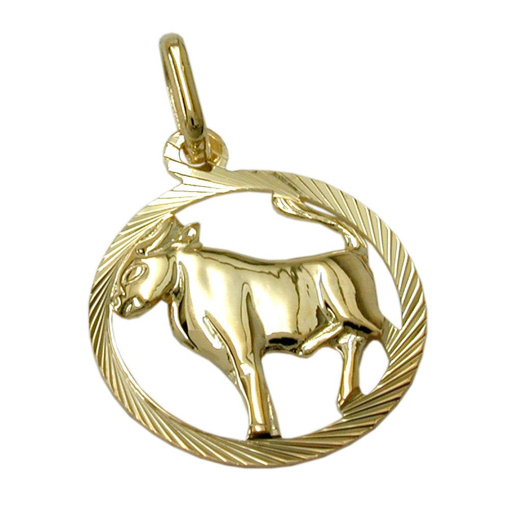 Anhänger Sternzeichen, Stier, Gold 375