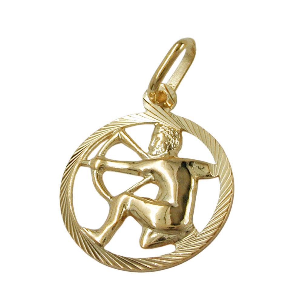 Anhänger Sternzeichen, Schütze, Gold 375