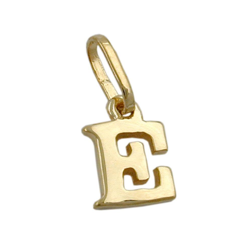 Anhänger, Buchstabe E, Gold 375
