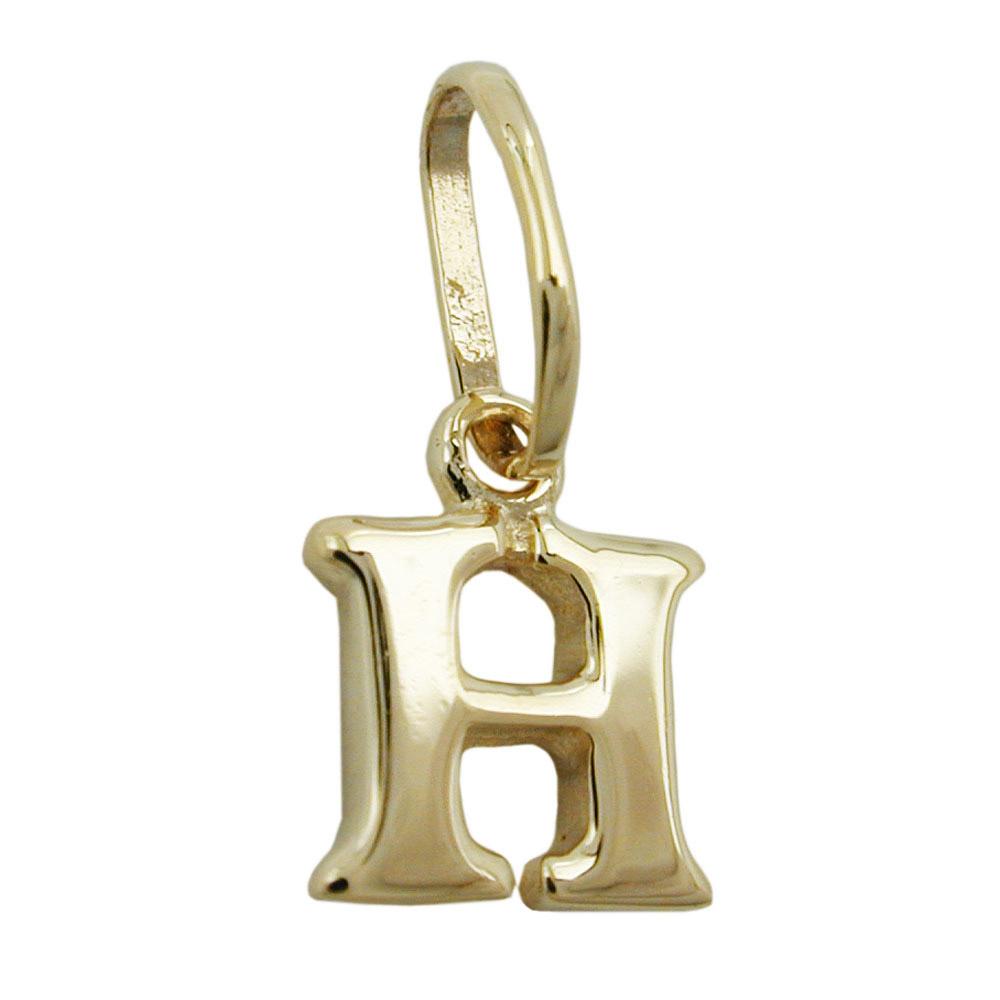 Anhänger, Buchstabe H, Gold 375