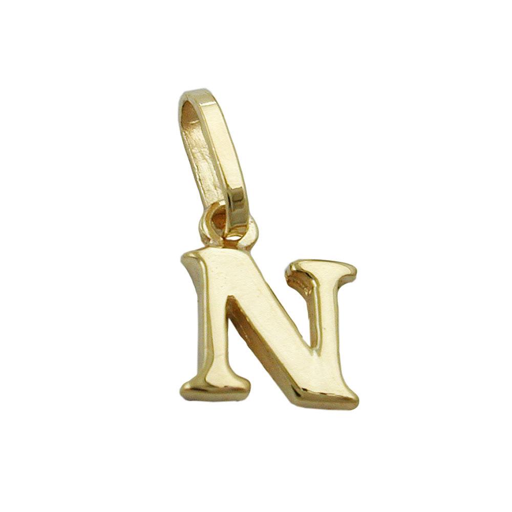 Anhänger, Buchstabe N, Gold 375