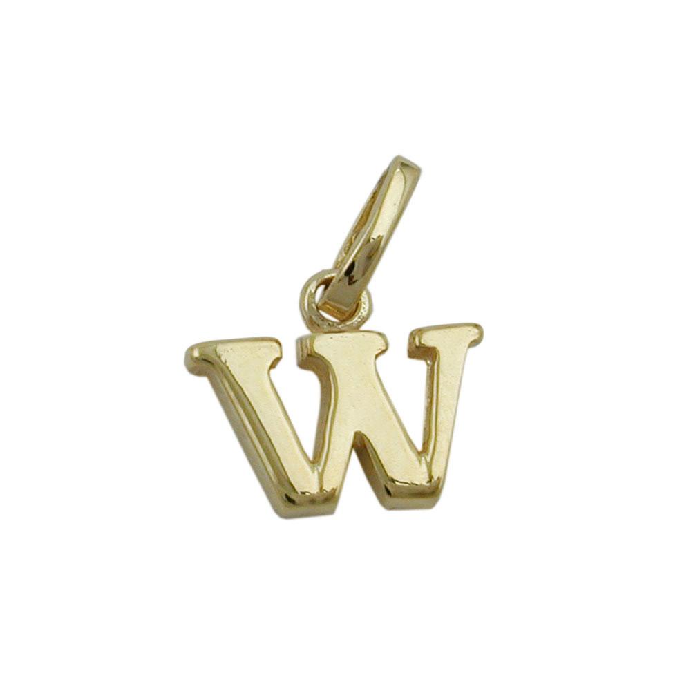 Anhänger, Buchstabe W, Gold 375