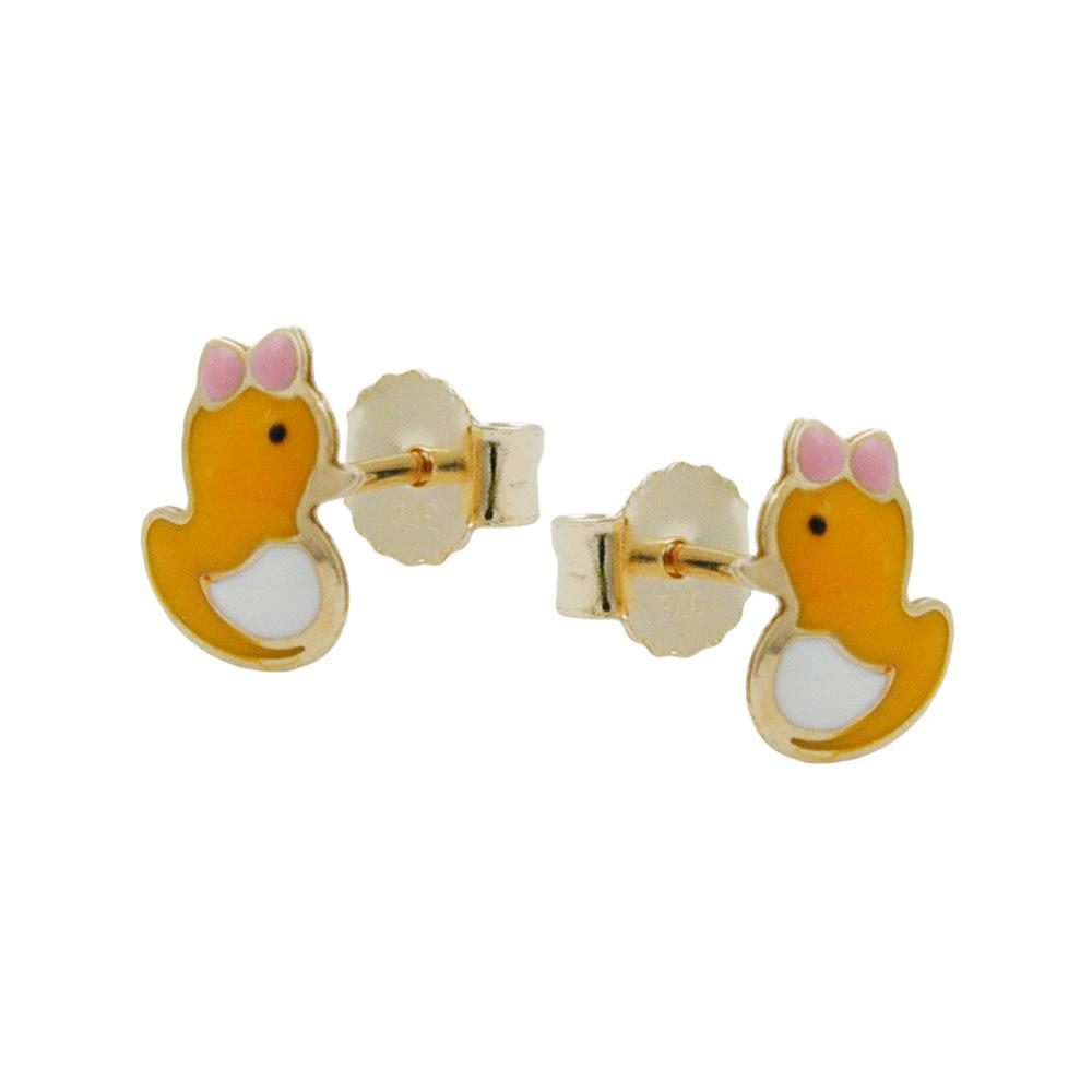 Ohrstecker, kleine Ente, Gold 375