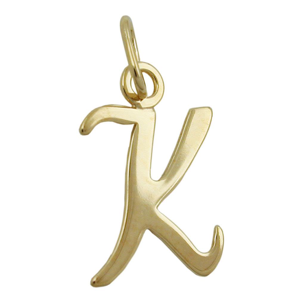 Anhänger, Buchstabe K, Gold 333