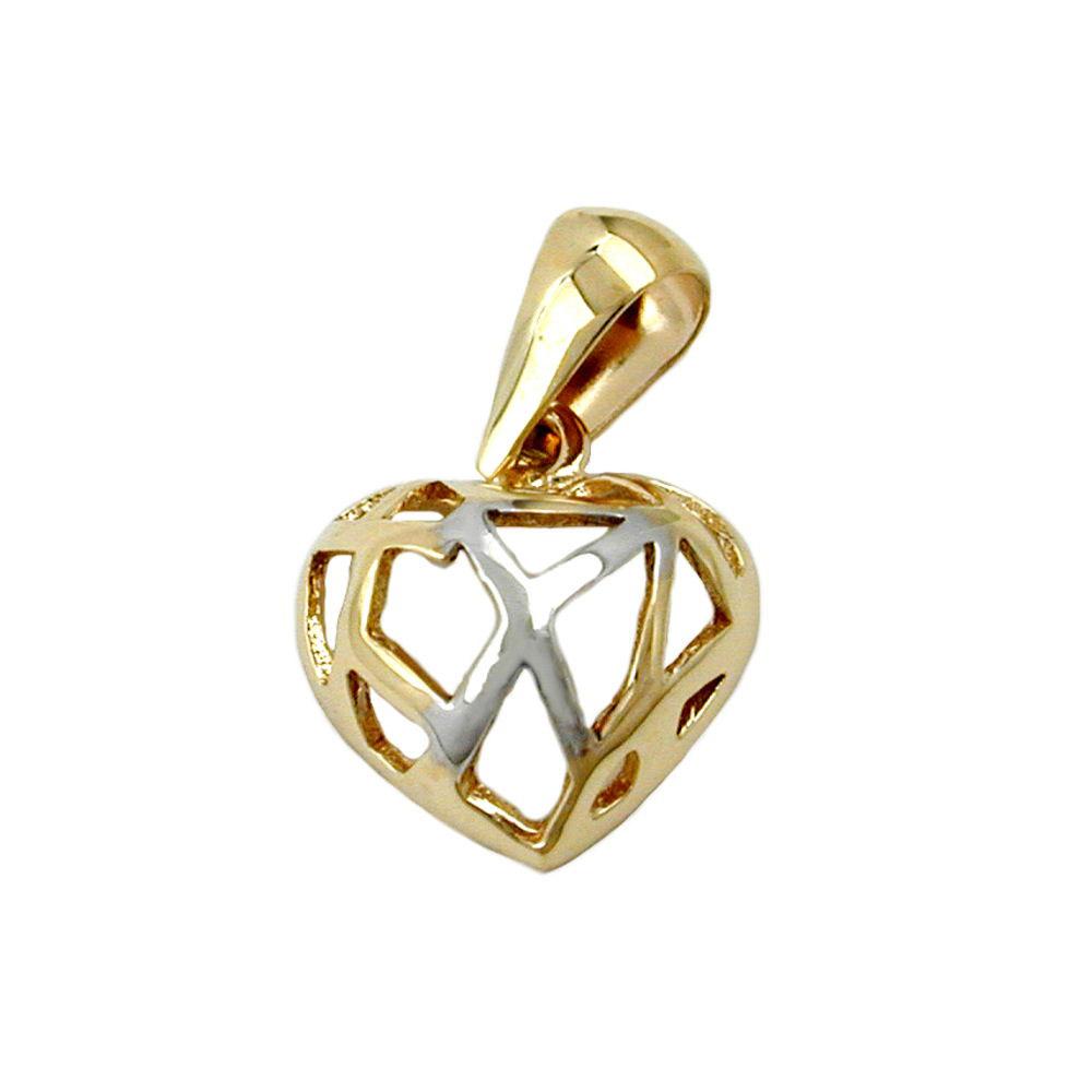 Anhänger Herz durchbrochen, Gold 375