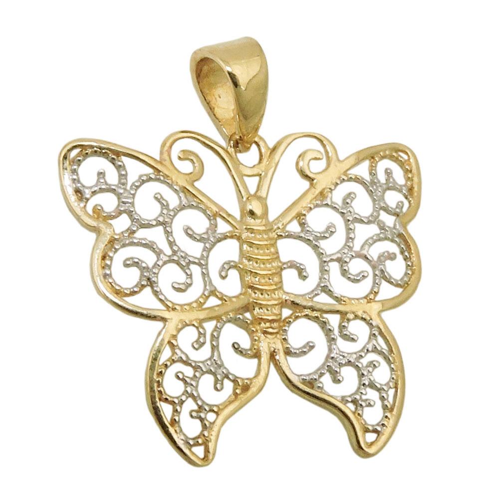 Anhänger, Schmetterling, Gold 375