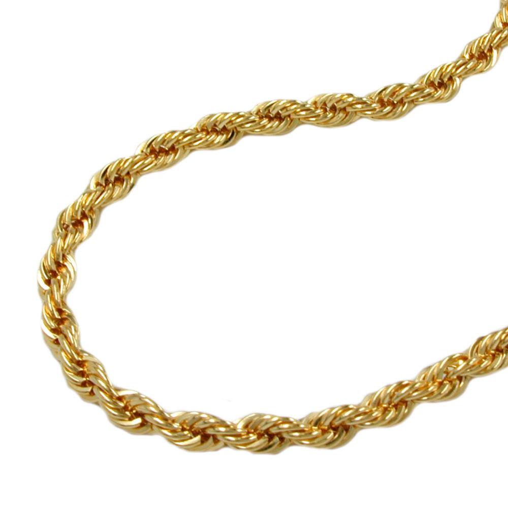Kette, 45cm, Kordelkette, Gold 375