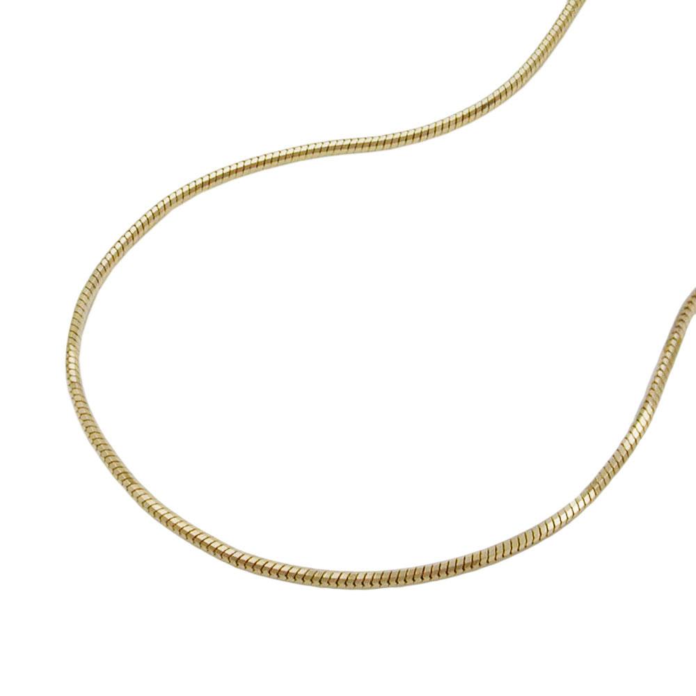 Kette, Schlange, 42cm, 5-kant, Gold 585