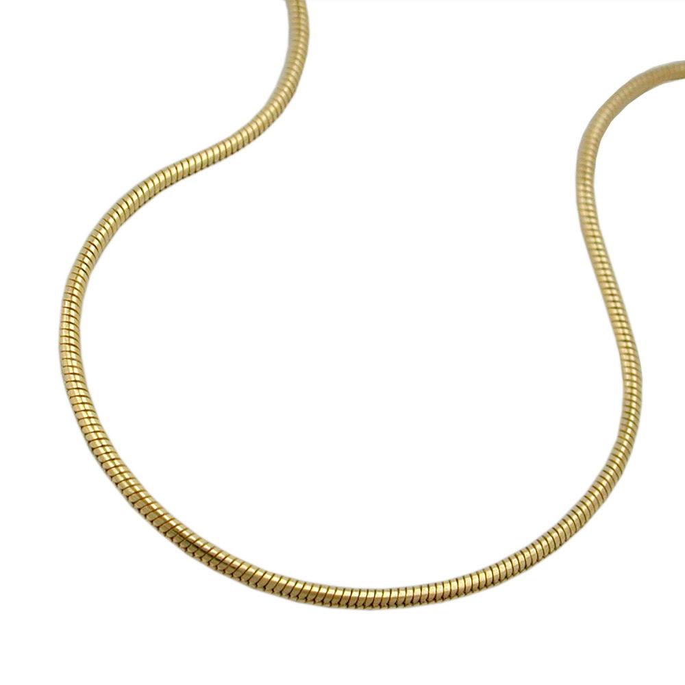 Kette, 45cm, Schlange, 0,7mm, Gold 585