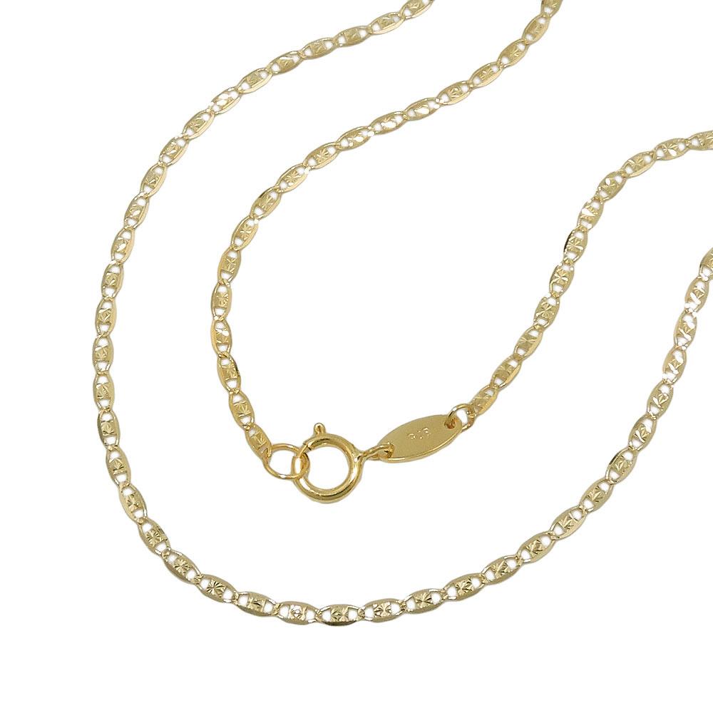 Kette Collier Fantasiekette Gold 375 45cm