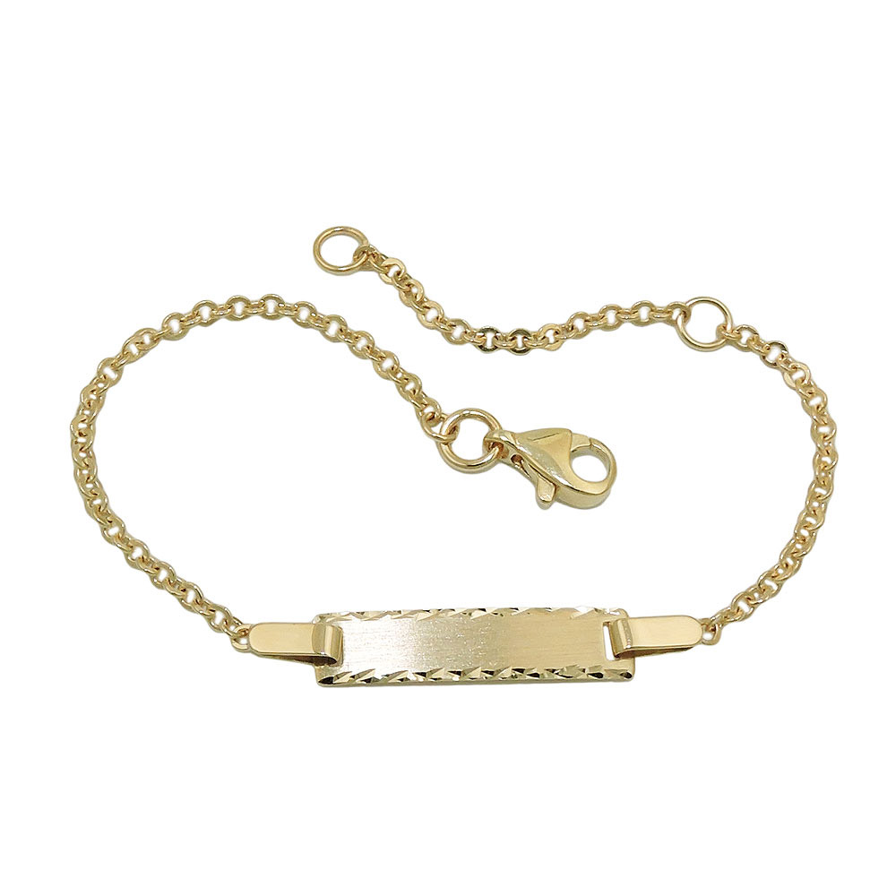 Armband Schildband, diamantiert, Gold 375
