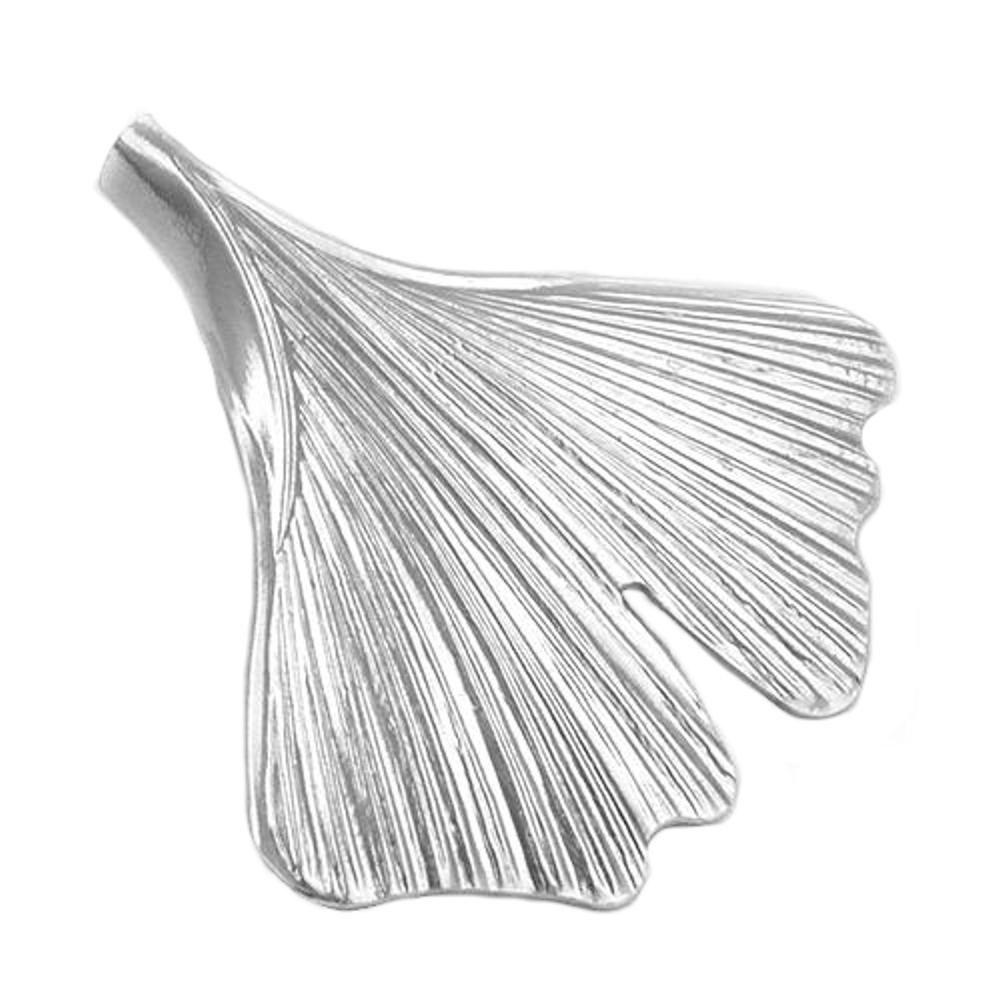 Anhänger, 33mm Ginkgo-Blatt, Silber 925